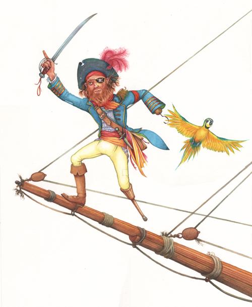 Pirate on bowsprit
